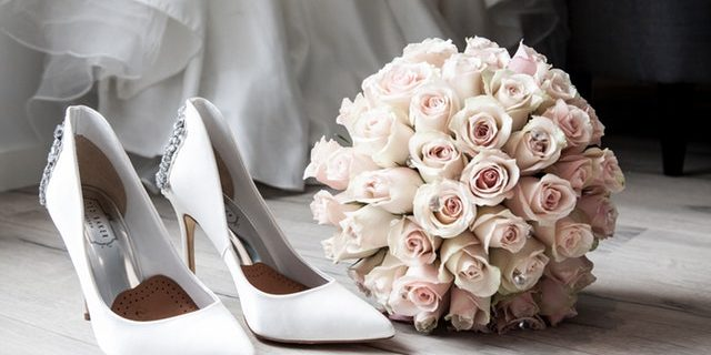 Bridal flowers and shoes